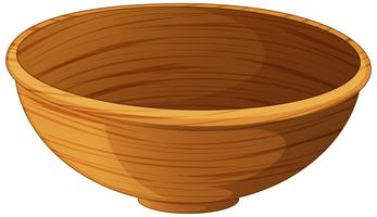 Bowl made of wood vector