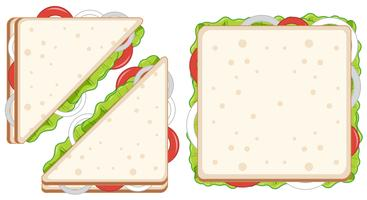 Set of healthy sandwiches