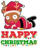 Modello di cartolina di Natale con renne