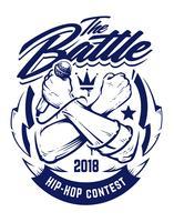 Emblème de vecteur hip-hop