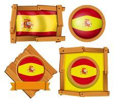 Ikon design för flagga i Spanien