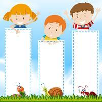 Modello di confine con i bambini nel parco
