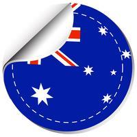 Diseño de etiqueta para la bandera de Australia.