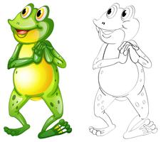 Animal outline for frog standing