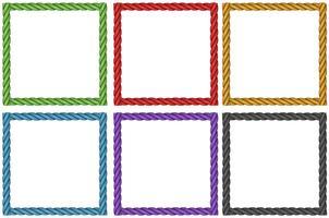 Rahmendesign in sechs Farben