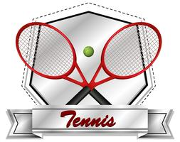 Sport icon design with tennis rackets and ball