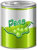 Greenpeas in aluminum can