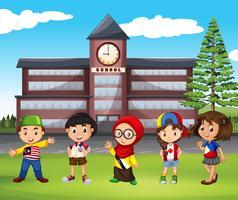 Many children at school