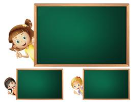 Board template with cute girls