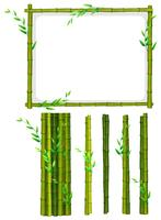 Green bamboo frame and sticks