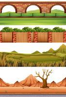 Conjunto de diferentes escenas