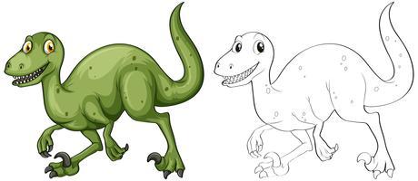 Doodle djur för T-Rex