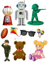 pacchetto di giocattoli del fumetto isolato