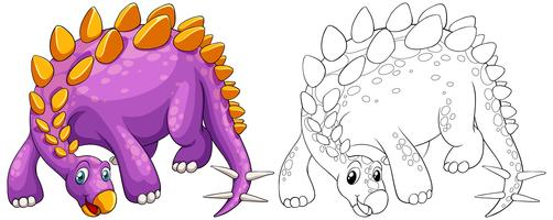 Profilo animale per stegosauro