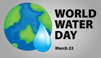 Diseño del cartel del día mundial del agua.