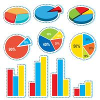 Disegni differenti per piecharts e barchart
