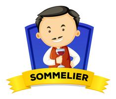 Wordcard d'occupation avec sommelier