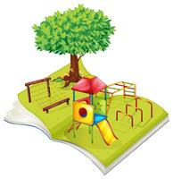 Book of playground in the park