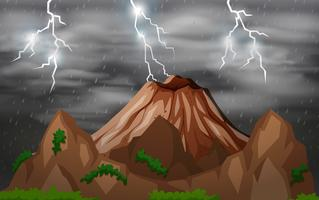 Storm night nature background