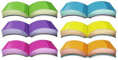 Set van boeken in verschillende kleuren