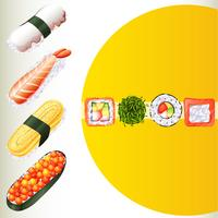 Japanese food on poster