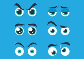 Dibujos animados de ojos planos