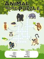 Game design per puzzle di parole animali