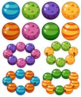 Marbles in different colors vector