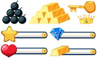 Set von Spiel-Symbol