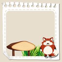Modelo de papel com raposa vermelha