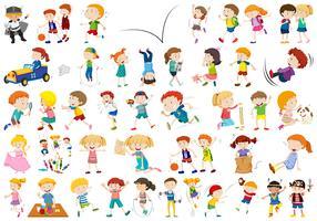 Conjunto de caracteres de pessoas