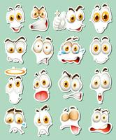 Sticker design for facial expressions vector