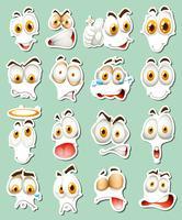 Diseño de pegatinas para expresiones faciales.