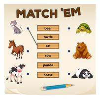Matching game with cute animals