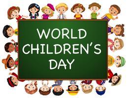 Design del poster per la giornata mondiale dei bambini