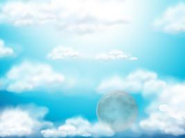 Background template with blue sky vector