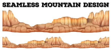 Seamless mountain in canyon