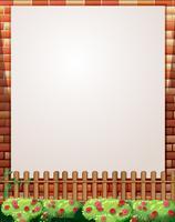 Design de fronteira com parede de tijolos e vedação