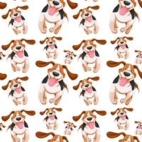 Seamless background design with little dogs vector