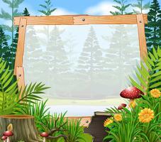Modèle de bordure avec forêt en arrière-plan