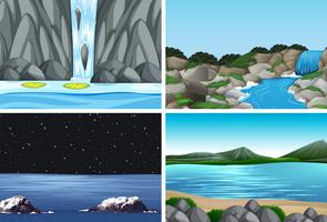 nature landscape scene pack vector