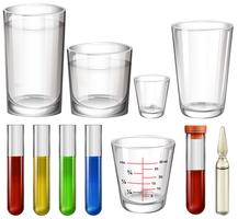 Tubes and glasses vector
