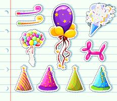 Sticker set of party elements