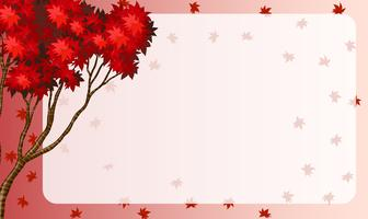 Border design with red maple leaves vector