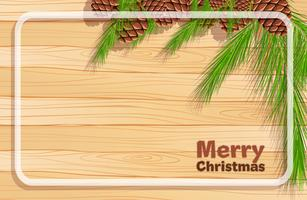 Border template with pinecone for christmas vector