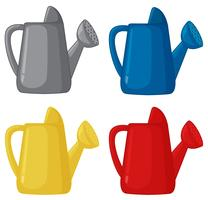 Set of watering can different colour