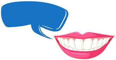 Zähne und Sprechblasenschablone reinigen