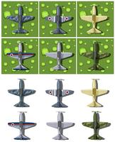 Different designs of military airplanes