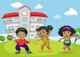 African children at school yard