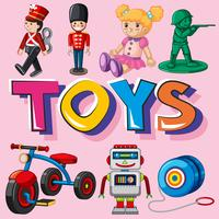 Different types of toys